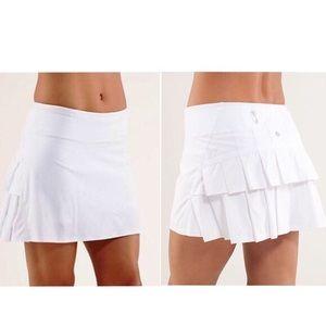 Lululemon Run Pace-Setter Skirt White